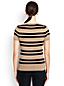 Gestreifter Supima-Pullover mit kurzen Ärmeln