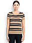 Women's Regular Short Sleeve Striped Supima® Jewelneck