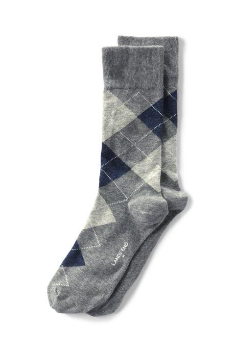 Men's Seamless Toe Cotton Pattern Dress Socks (1-pack)