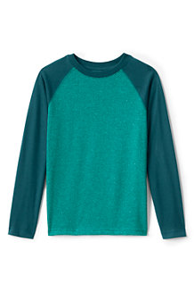 Boys' Long Sleeve Textured Raglan Tee