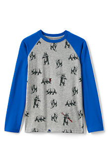 Boys' Long Sleeve Printed Raglan Tee