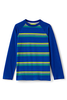 Boys' Long Sleeve Stripe Raglan Tee