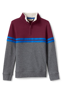 Boys' Quarter Zip Polo Neck Top