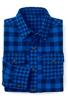 Boys' Pattern Block Flannel Shirt