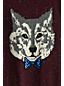Boys' Wolf Print V-Neck Sweater