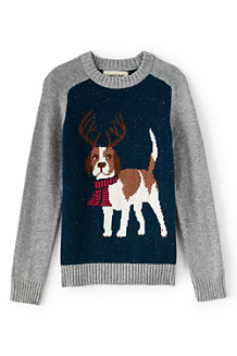 Boys' Christmas Crew Neck Jumper