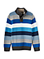 Boys' Multi Stripe Button Polo Neck