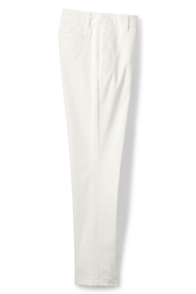 Women's Plus Size Petite Mid Rise Straight Leg Chino Pants, Front