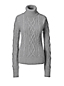 Women's Regular Cashmere Aran Roll Neck Jumper