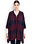 Women's Regular Wool/Cashmere Hooded Poncho