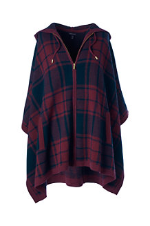 Women's Wool/Cashmere Hooded Poncho