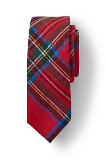 Boys' Brushed Cotton Plaid Tie