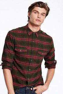 Men's Pima/Yak Hair Flannel Shirt