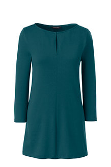 Women's Three Quarter Sleeve Keyhole Tunic