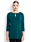 Women's Regular Three Quarter Sleeve Keyhole Tunic