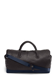 Men's Luxe Leather Weekend Holdall