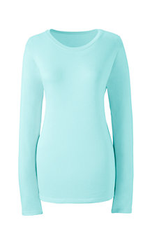 Women's Supima Long Sleeved Crew Neck T-shirt