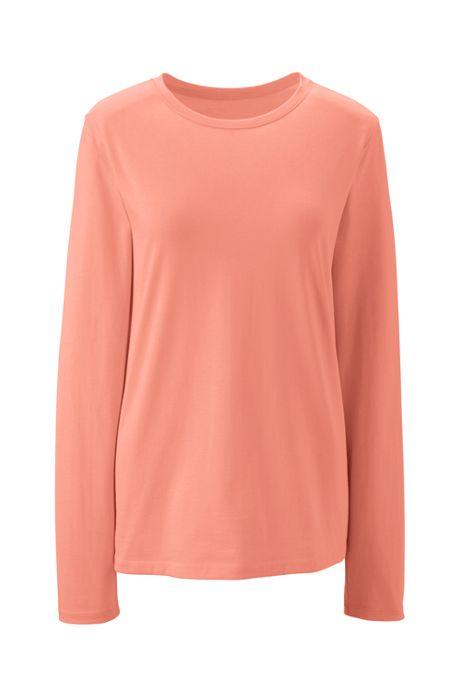 Women's Tall Supima Cotton Long Sleeve T-shirt - Relaxed Crewneck