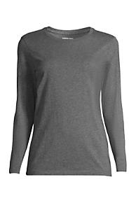 Discount Low Shipping Womens Petite Scoop Neck Supima T-shirt - 10 -12 - BLUE Lands End xUJux