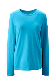 Women's Plus Size Supima Cotton Long Sleeve T-shirt - Relaxed Crewneck