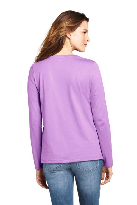 Women's Supima Cotton Long Sleeve T-shirt - Relaxed Crewneck