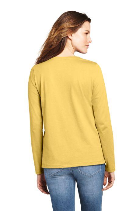 Women's Relaxed Long Sleeve T-shirt Supima Cotton Crewneck