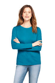 Women's Tall Relaxed Long Sleeve T-shirt Supima Cotton Crewneck