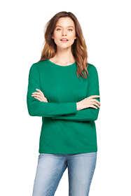 Women's Tall Relaxed Supima Cotton Long Sleeve Crewneck T-Shirt