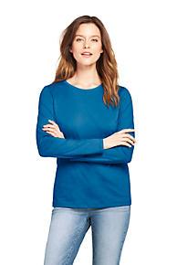 Women s Supima Cotton Long Sleeve T-shirt - Relaxed Crewneck 072a5b5d5c