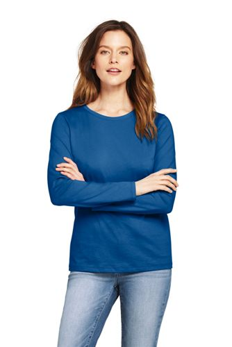 Women's Shaped Layering Long Sleeve T-shirt Crewneck