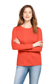 Women's Tall Supima Cotton Long Sleeve T-shirt - Relaxed Crewneck