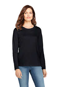 Women's Tall Relaxed Fit Supima Cotton Crewneck Long Sleeve T-shirt