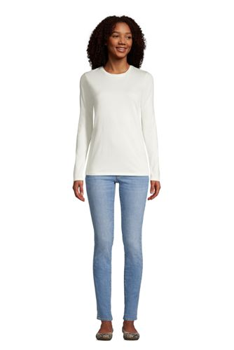 Women's Relaxed Supima Cotton Long Sleeve Crewneck T-Shirt