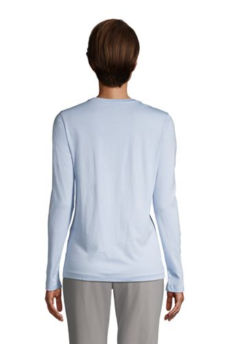 Women's Tall Relaxed Supima Cotton Long Sleeve Crewneck T-Shirt