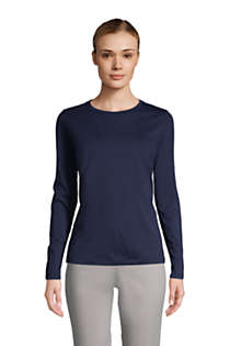 Women's Tall Relaxed Supima Cotton Long Sleeve Crewneck T-Shirt, Front