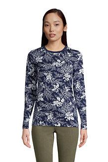 Le T-Shirt Supima® Ras-de-Cou Manches Longues, Femme