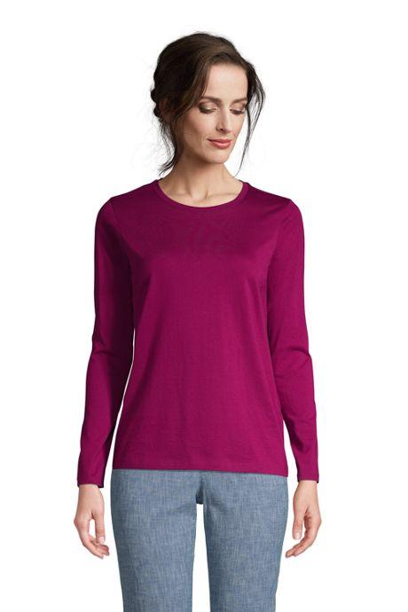Women's Relaxed Supima Cotton Long Sleeve Crewneck T-Shirt