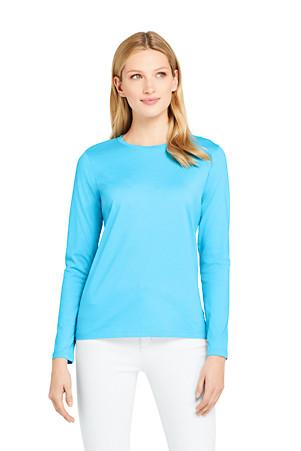 ce4f3418dcc7a3 Women's Supima Long Sleeved Crew Neck T-shirt | Lands' End