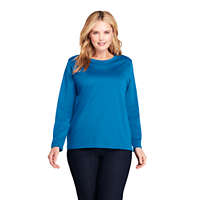 LandsEnd.com deals on Lands End Women's Plus Size Supima Cotton Long Sleeve T-shirt