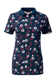 Women's Print Pima Polo