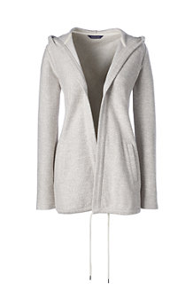 Women's Marled Open Front Hoodie