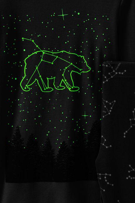 Toddler Boys Glow-in-Dark Knit Pajama Set