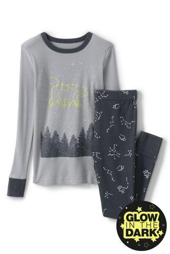 Schmal geschnittenes Pyjamaset Glow-in-the-Dark für Jungen