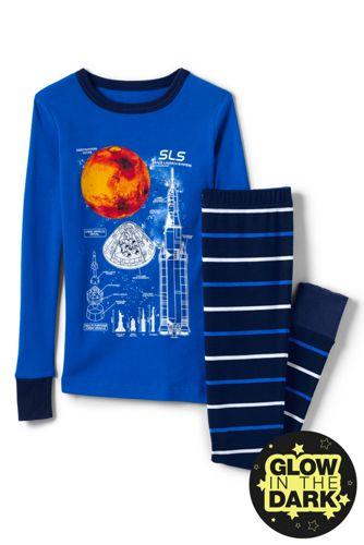 Boys' Glow-in-the-Dark Snug Fit Pyjama Set
