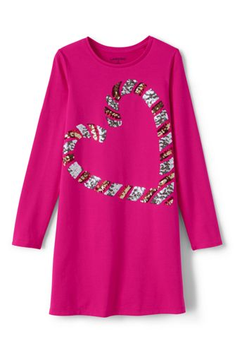 Little Girls' Embellished T-shirt Dress