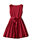 Little Girls' Sleeveless Taffeta Dress