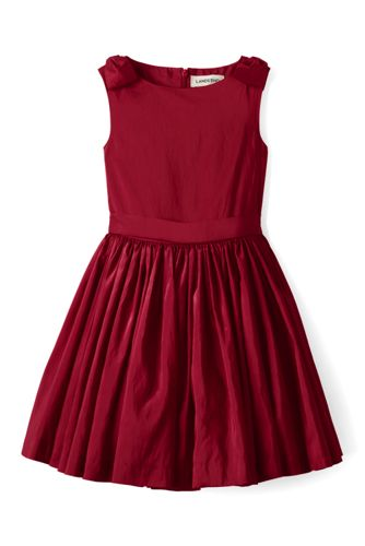 Girls' Sleeveless Taffeta Dress