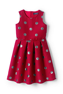 Girls' Jacquard Party Dress