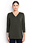 Women's Regular Three Quarter Sleeve V-neck Tunic