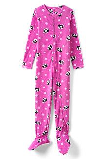Fleece-Schlafanzug mit Füßen für Mädchen